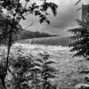 After heavy rains, dam at Sellars Manufacturing Company Lake (Saxapahaw) ll May 21, 2020