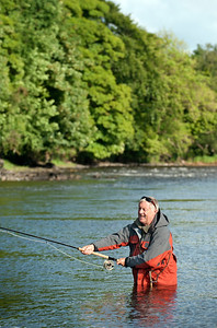River Mourne - Chris Tarrant fishing the Snaa Pool on the River Mourne, Co Tyrone, N Ireland
