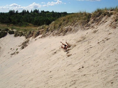 So how do you dune tumble? 1. First, find a really big sand dune.