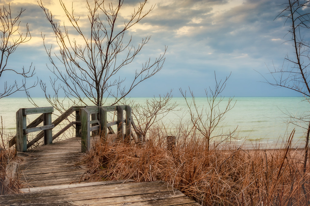 Beverly Shores Beach Walkway