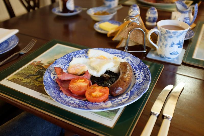 Breakfast at Burnhopeside Hall, Lanchester, Durham