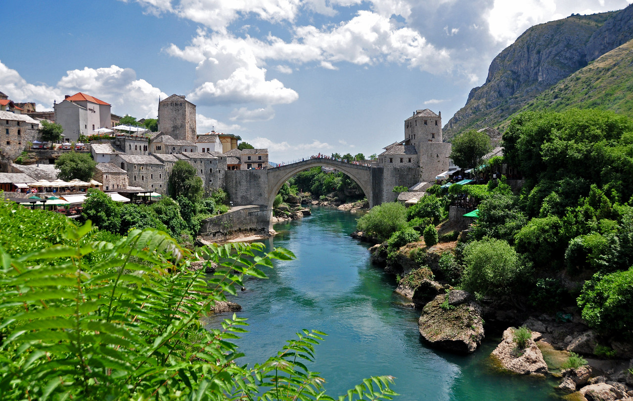 16th-century Ottoman Bridge in Mostar,  Bosnia