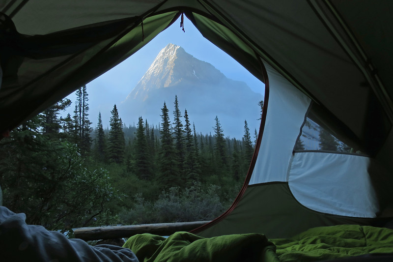Mt. Robson Tent View