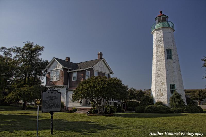Old Point Comfort Lighthouse, Fort Monroe, Hamtpon Roads, VA