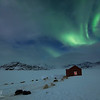 Northern lights and sled dogs - Tiniteqilaaq, East Greenland 2016