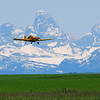Crop Dusting with a View<br /> Ashton, Idaho