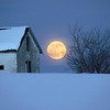 """February Moon""<br /> <br /> About This Image:  The full moon rises behind an abandoned homestead near Squirrel, Idaho.   <br />    <br /> Photographs Available:  See the drop down menu to the upper right for a list of print sizes and prices for this photo."