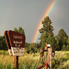 Rainbow in Targhee National Forest, Idaho.