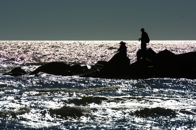 fishing from the jetty ~ a year later ~ Southern Outer Banks