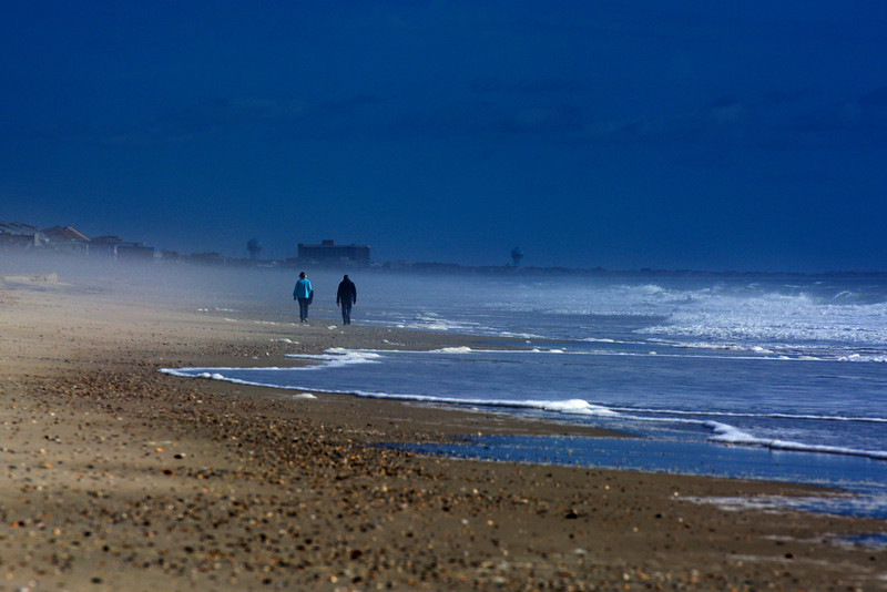 misty morning walk ~ Southern Outer Banks
