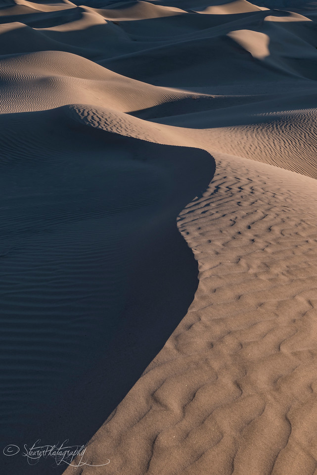 Lines of Eureka Dunes - Death Valley, CA