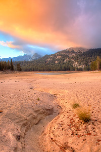 Horseshoe Lake at Dawn,Mammoth Lakes Basin