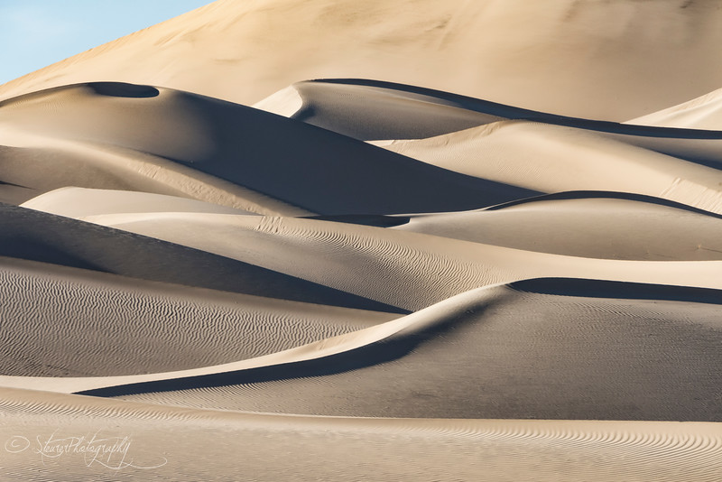 Shadow and Light on Eureka Dunes - Death Valley, CA