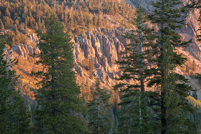 Morning Light on Cliffs above Twin Lakes, Mammoth Lakes, Ca.