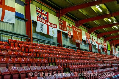 Crewe Alexandra v Eastleigh in the Emirates FA Cup 2nd round replay. 3-1 win to Crewe.