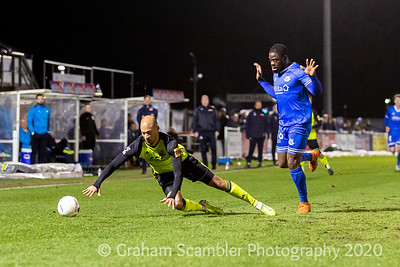 Eastleigh FC v Aldershot in the National League . 0-0