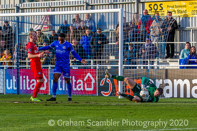Eastleigh fc beaten by Chesterfield fc 2-0 at The Silverlake Stadium Eastleigh
