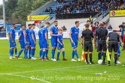 Eastleigh FC v Chorley in the National League 12th October 2019. 0-0 draw with a Danny Hollands goal disallowed.