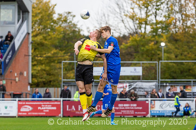 Eastleigh v Harrogate in the National League. 4-1 win to Eastleigh with a Hat trick by Scott Rendell and a first home National League goal for Tom Bearwish.