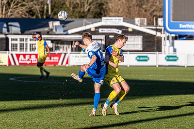 Eastleigh v Solihull Moors in the National League 06/02/2021 at The Silverlake Stadium Eastleigh Hampshire. Images by Graham Scambler Photography