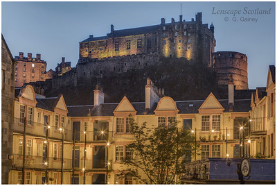 Edinburgh Castle and Portsburgh Square from West Port