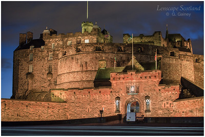 Edinburgh Castle from the esplanade (2)