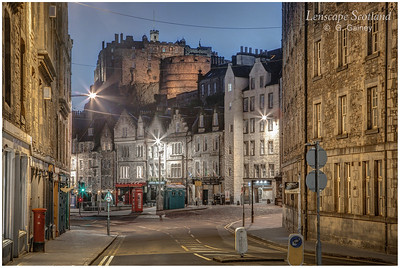 Edinburgh Castle and Grassmarket from Cowgatehead (1)