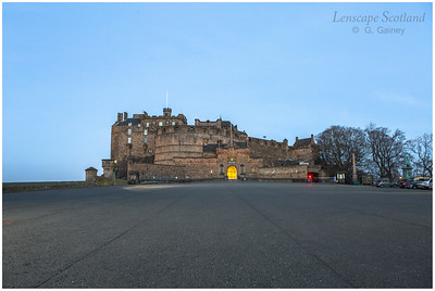 Edinburgh Castle from the esplanade, early morning