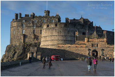 Edinburgh Castle from the esplanade (1)