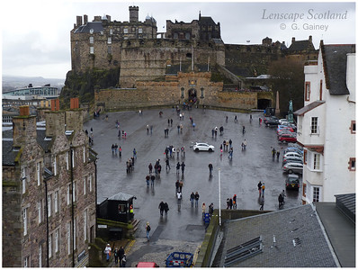 Edinburgh Castle and esplanade from the Outlook Tower