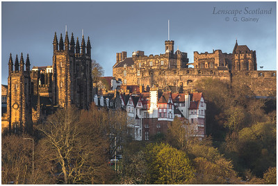 Early morning sunlight on Edinburgh Castle