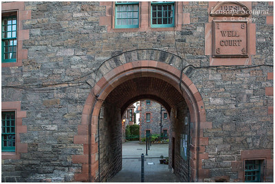Well Court entrance archway, Dean Village