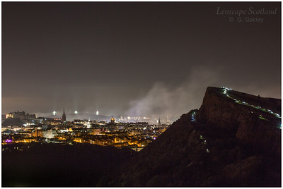 Fireworks over Edinburgh Castle from Holyrood Park (10)