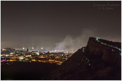 Fireworks over Edinburgh Castle from Holyrood Park (10)