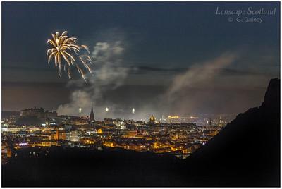 Fireworks over Edinburgh Castle from Holyrood Park (6)