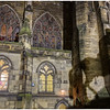 Ghostly shadow of King Charles II equestrian statue on St. Giles