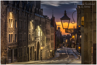 Canongate lamp in morning twilight