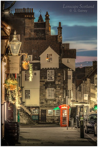 John Knox's House, High Street, with dawn breaking (1)