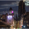 Full moon from Edinburgh Castle esplanade