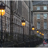 Illuminated lamps in Drummond Place