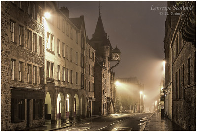 Canongate tolbooth in the mist