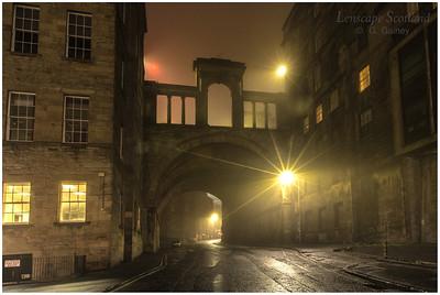 Calton Road and Regent Bridge in the mist (2)