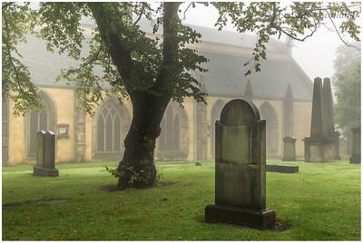 Greyfriars graveyard in the mist (1)