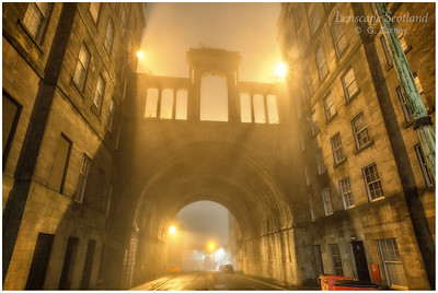 Calton Road and Regent Bridge in the mist (1)