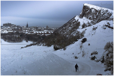 Holyrood Park in the snow
