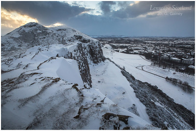 Arthur's Seat and Salisbury Crags in winter