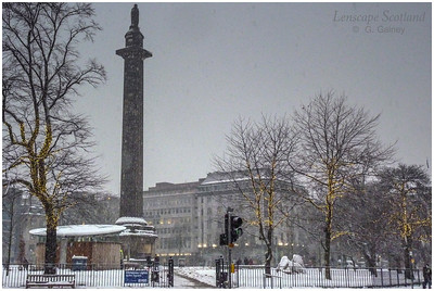 Saint Andrew Square in the snow