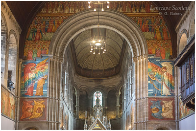 Mansfield Traquair Church, featuring Phoebe Anna Traquair murals (2)
