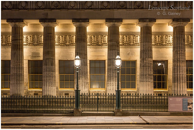Royal Scottish Academy columns and lamps (2)