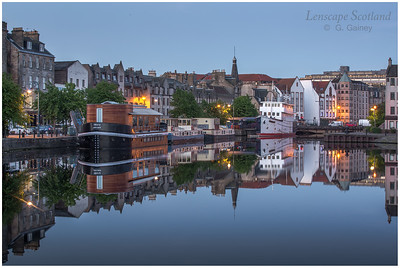 Morning twilight reflections at the Shore, Leith 5